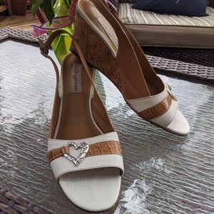 Brighton Cork Heel wedge size 8.5